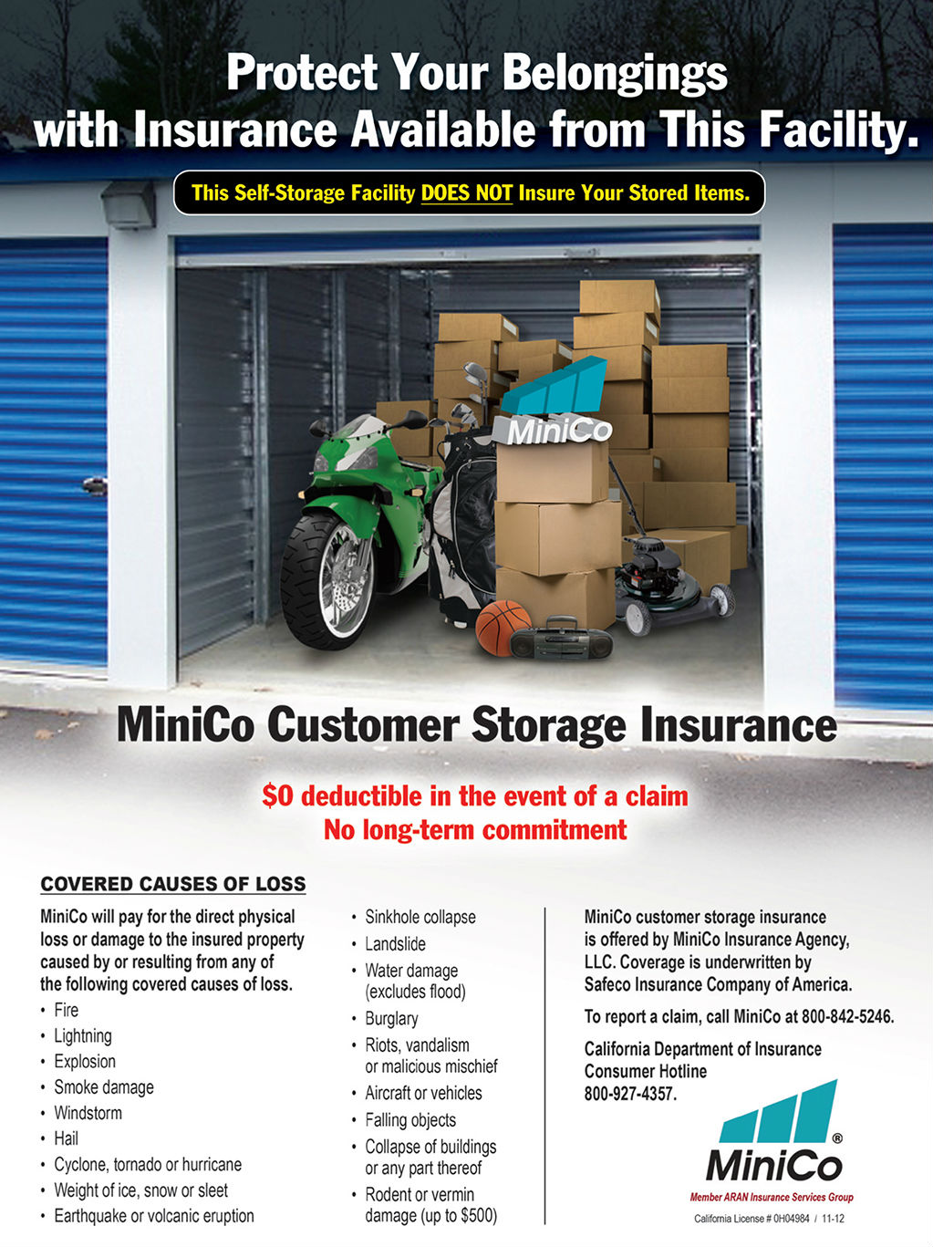 Tenant Insurance | East Cypress Storage